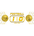 gold soccer or golden football white banner with vector image