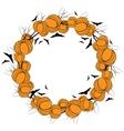 Halloween wreath 4 vector image vector image