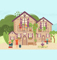 hotel bed and breakfast for travel vacation vector image