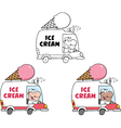 Ice cream cartoon vector image vector image