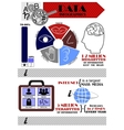 infographics on the topic of information vector image