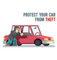 isolated automobile car protection steal burglar vector image vector image