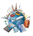 journey around the world vector image vector image