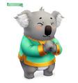 koala funny animal 3d icon vector image