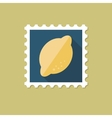Lemon flat stamp with long shadow vector image