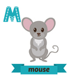Mouse M letter Cute children animal alphabet in vector image vector image