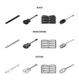 musical instrument blackmonochromeoutline icons vector image vector image