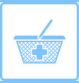 pharmacy shopping cart icon vector image vector image