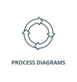 process diagrams line icon linear concept vector image vector image