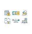 product management rgb color icons set vector image