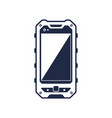 protected smartphone device with blank screen vector image vector image