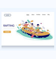 rafting website landing page design vector image vector image