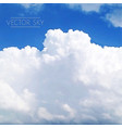 realistic clouds vector image vector image