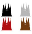 Sagrada Familia in Barcelona vector image vector image