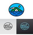 sea accommodation house logo vector image