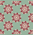 seamless pattern of abstract flowers in cold tones vector image