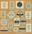seamless pattern with beer labels vector image vector image