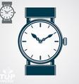 simple wristwatch detailed quartz watch wit vector image vector image