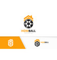 soccer and real estate logo combination vector image vector image