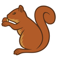 squirrel with hazelnut vector image vector image