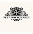 Stylish graceful monogram in Art Nouveau style vector image vector image