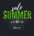 summer sale handwriting text lettering scratched vector image vector image