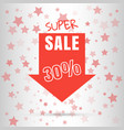 super sale colored arrow banner big sale 50 off vector image vector image