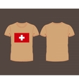 t-shirt with the flag of Switzerland vector image vector image
