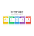 template infographic with 5 steps or options vector image vector image