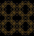tile pattern with golden ornament on black vector image vector image