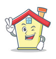 two finger house character cartoon style vector image