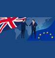 uk european union international partnership vector image