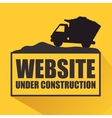 website under construction design vector image vector image