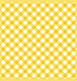 yellow checkered tablecloth background vector image