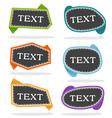 pop-up bubble text vector image