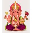 Ganesha Indian god of wisdom and wealth vector image