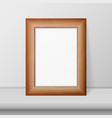 3d realistic brown wooden simple modern vector image vector image