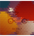 Abstract background with retro automobile vector image vector image