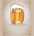 beer barrel with foam vector image vector image