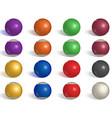 billiard pool balls collection snooker reverse vector image vector image