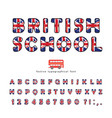 british school font great britain uk national vector image vector image