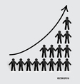Business growing graph with businessman vector image vector image