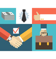 Business people concept in flat design styl vector image vector image