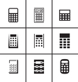 Calculators icons set vector image vector image