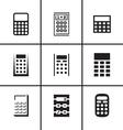 Calculators icons set vector image vector image