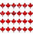 canada cartoon emojis vector image vector image