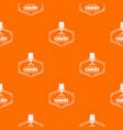 chair pattern orange vector image vector image