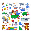 children toys set various objects for kids vector image vector image