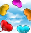 Collection glossy hearts balloons for Valentine vector image vector image