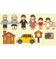 collection of family vector image